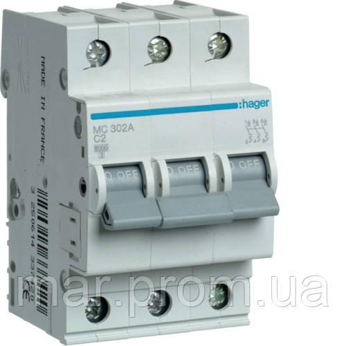 Автоматический выключатель 3P 6kA C-0.5A 3M