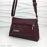 Небольшая женская сумочка сумка кросс-боди Style экокожа марсала 11368/2