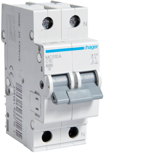 Автоматический выключатель 1P + N 6kA C-13A 2M