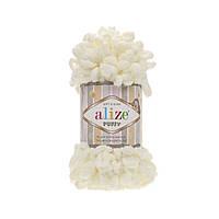 Alize Puffy  светло-молочный №62