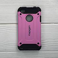 Чехол противоударный на iPhone 4 Spigen цвет розовый