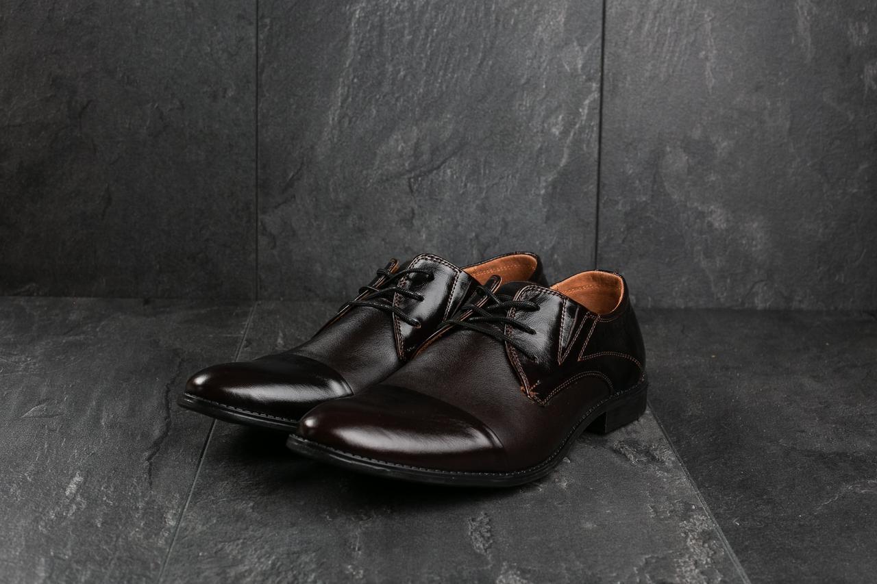 Туфли Slat 17105 (весна/осень, мужские, натуральная кожа, коричневый)