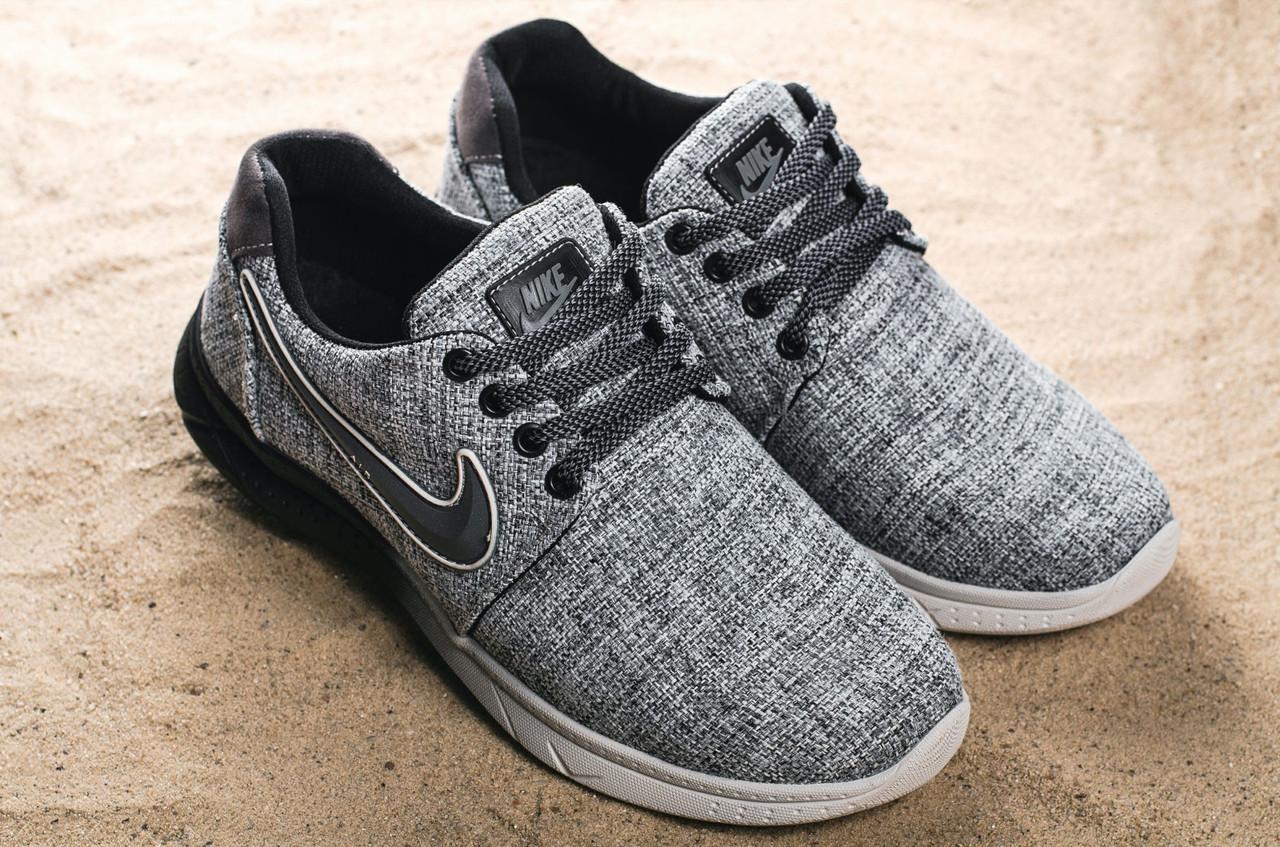 Кроссовки CrosSAV 41 (Nike Roshe Run) (весна/осень, мужские, джинс, серый)