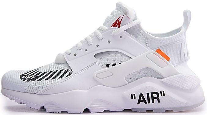 """Мужские кроссовки в стиле Nike Air Huarache Off-white  """"White"""" ( в стиле Найк )"""