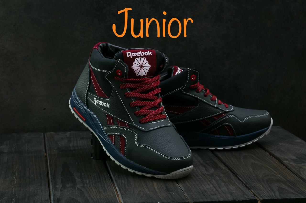 Кроссовки CrossSAV 50 (Reebok) (зима, подростковые, кожа, синий-красный)