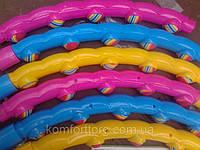Обруч для талии с массажными резиновыми вставками складной Хула-хуп вес 1.4 кг гимнастический 98 см