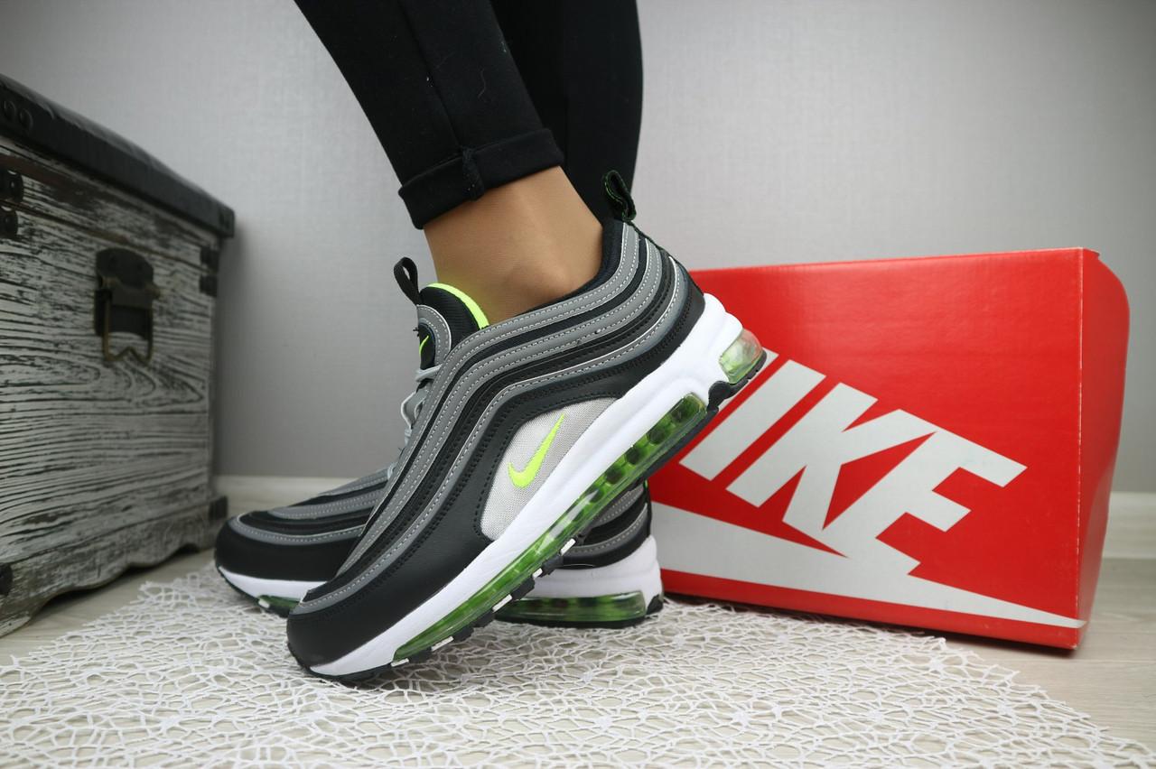 Кроссовки В 343 -37 (Nike Air Max 98) (весна/осень, женские, текстиль, серый)