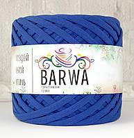 Трикотажная пряжа BARWA standart 7-9 мм. Синий кобальт (cobalt blue)