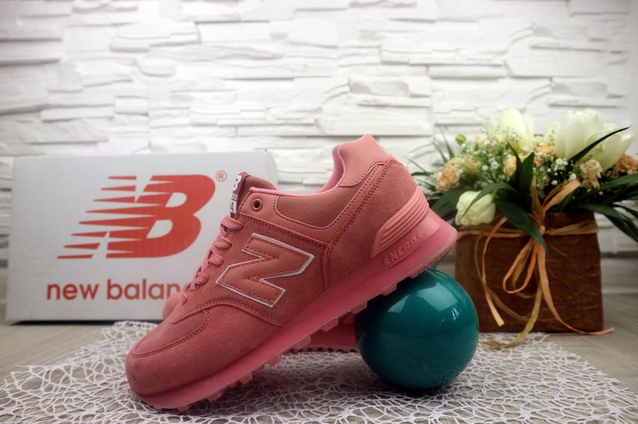 Кроссовки Classik NBG GG7394-1 (New Balance) (весна-осень, женские, замш, розовый)