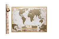 ✅ Скретч карта мира, My Map Antique edition, карта путешествий, ENG, Игры, сувениры, подарки, товары для детей, Ігри, сувеніри, подарунки, товари для