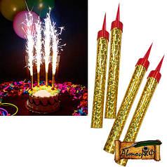 Свечи-фейерверк для тортов бенгальские 15 сантиметров (6 шт в упак)