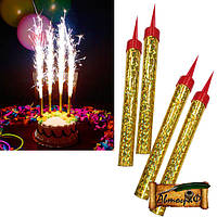 Свечи-фейерверк для тортов бенгальские 12 сантиметров (6 шт в упак)