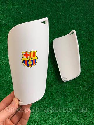 Щитки для футбола  Барселона  белые 1091, фото 2