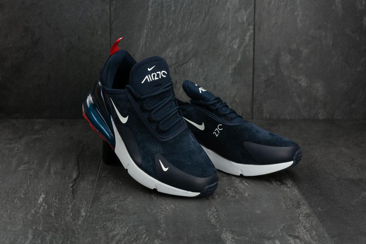 Кроссовки B 1102-3 (Nike Air 270) (весна-осень, женские, искуственный замш, синий)