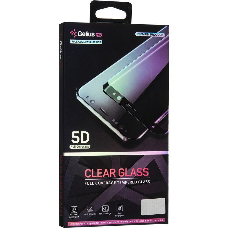 Защитное стекло Gelius Pro 5D Clear Glass for iPhone XR Black