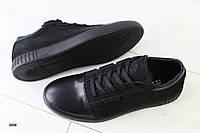 Мужские спортивные туфли, комбинированные: натуральная кожа и нубук, синие, на шнурках, фото 1