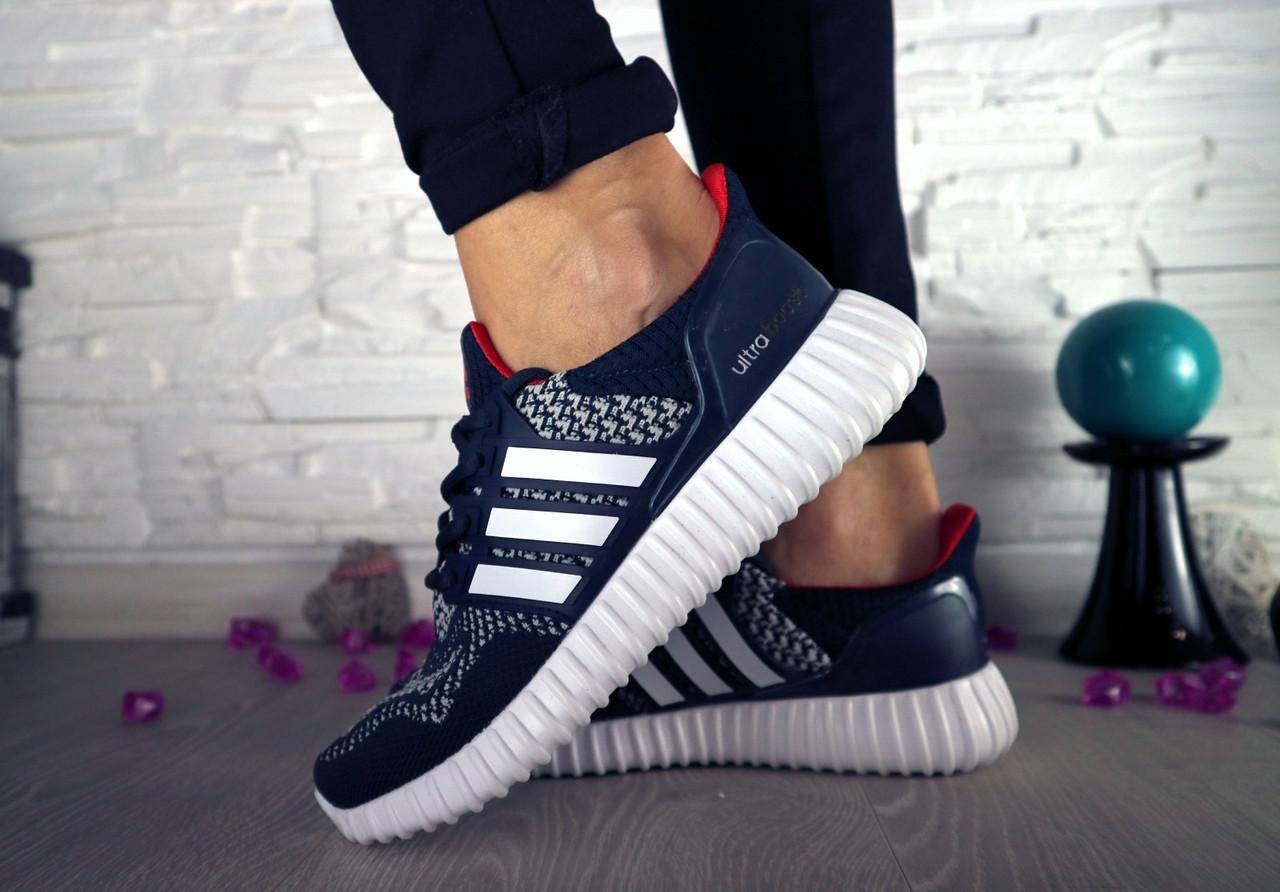 Кроссовки 7322 (Adidas) (весна/осень, женские, искуственная замша, синий)