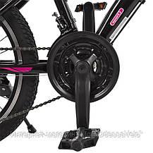 Велосипед детский PROF1 20 Д. G20VEGA A20.2 черно-розовый, фото 3
