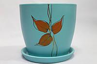 Красивый керамический вазон для цветов