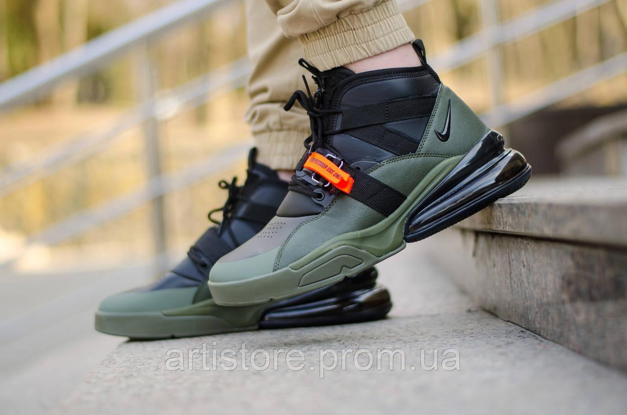 Nike Air Force 270 Black Orange Safari | кроссовки мужские
