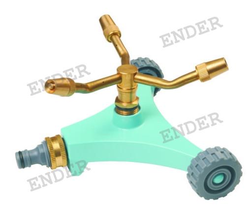 Дождеватель Ender круговой на подставке с колесами латунный