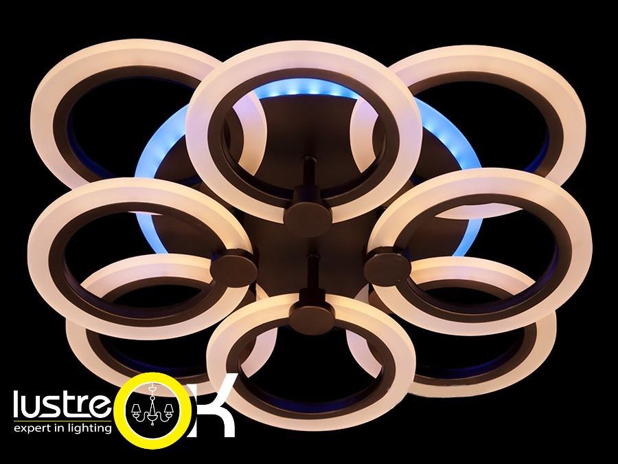Люстра светодиодная припотолочная A3003/4+4CF LED dimmer