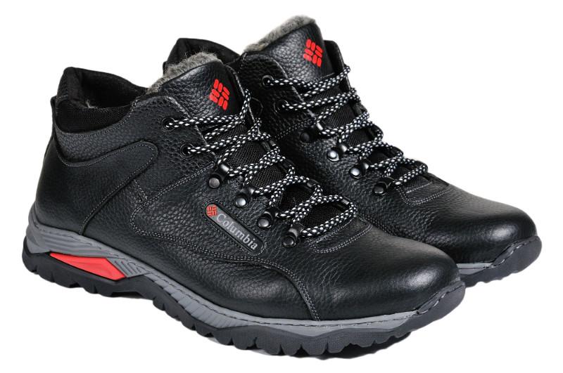 Мужские зимние ботинки с нат. кожи большого размера Everest р. 46 47 48
