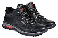 Мужские зимние ботинки с нат. кожи большого размера Everest р. 46 47 48, фото 1