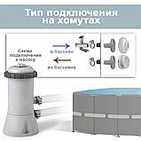 Каркасный бассейн Intex 26702, 305 x 76 см PRISM FRAME POOL, фильтр насос, фото 8