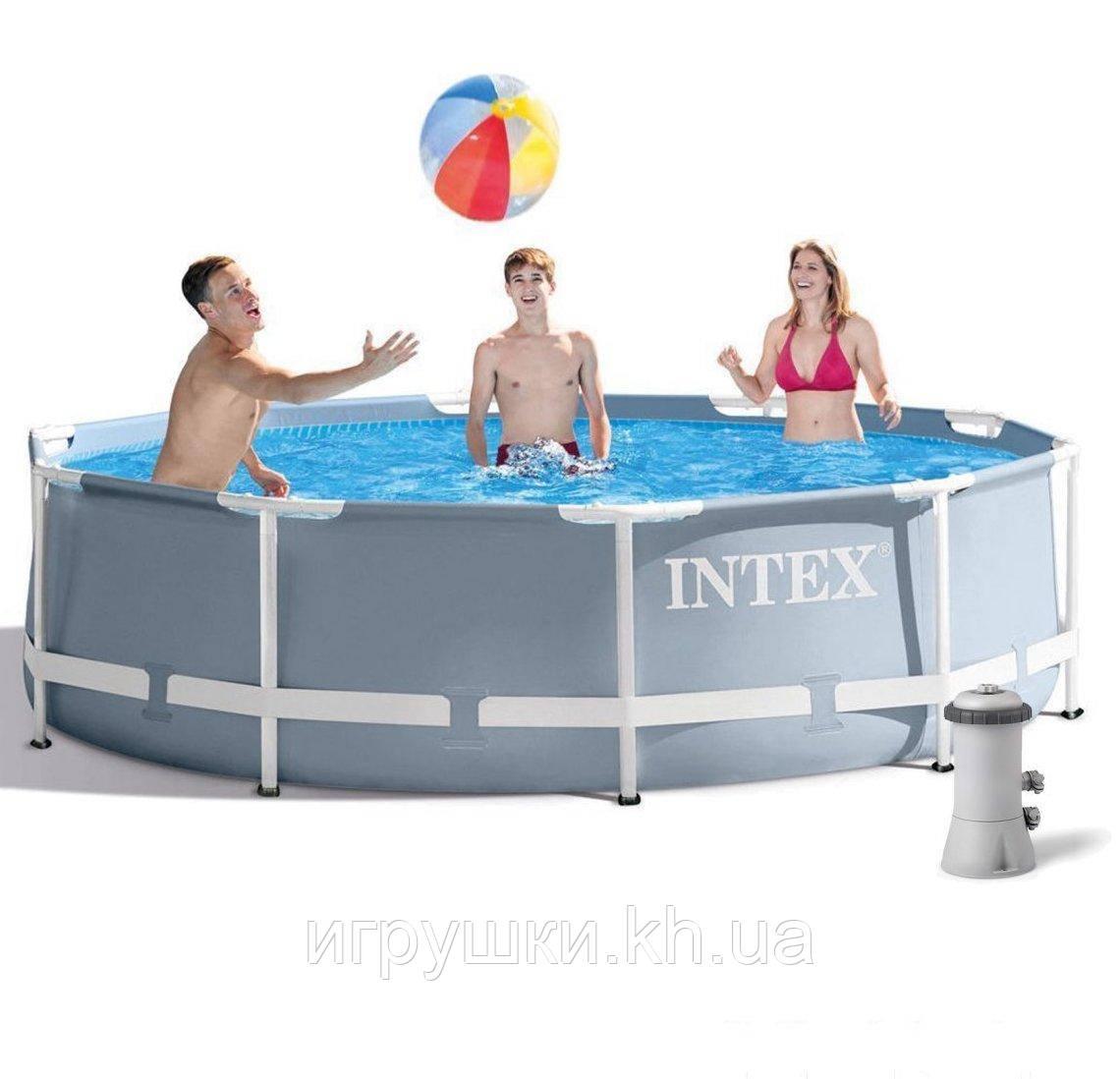 Каркасный бассейн Intex 26702, 305 x 76 см PRISM FRAME POOL, фильтр насос