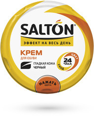 Салтон Salton крем для обуви черный, 50мл