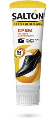 Крем для обуви с аппликатором Салтон Salton черный 75мл