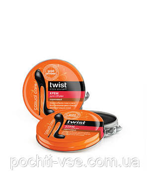Твист Twist Крем для обуви коричневый, 50мл