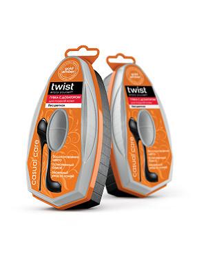 Твист Twist Губка для гладкой кожи с дозатором бесцветная