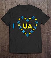 Патріотична Футболка I Love Ukraine, фото 1