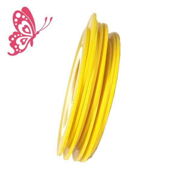 Лента 1 мм Желтого цвета на Липкой Основе для Дизайна Ногтей, Ногти, Маникюр