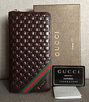 Мужской кошелек Gucci (138028) коричневый
