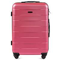 Чемодан дорожный  валіза на 4 колесах WINGS ABS 401 Мала ручная кладь рожева