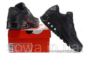 "✔️ Кроссовки Nike Air Max 90 ""Premium Triple Black"", фото 3"