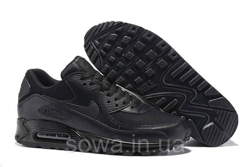 "✔️ Кроссовки Nike Air Max 90 ""Premium Triple Black"""