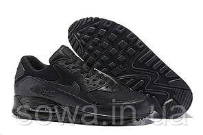 "✔️ Кроссовки Nike Air Max 90 ""Premium Triple Black"", фото 2"