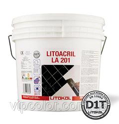 Дисперсионный, готовый к применению, клей белого цвета Litokol Litoacril LA201 5 кг
