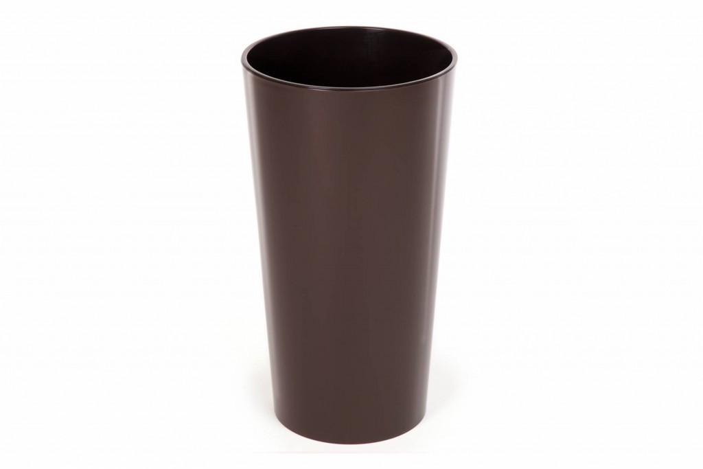 """Кашпо пластикове підлогове """"Лілія"""", з вкладом, 140мм, (Мокко)"""