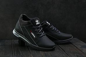 Кроссовки CrosSAV 39 (Adidas) (зима, мужские, натуральная кожа, черный-рыжий)