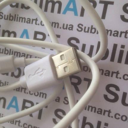 Usb кабель стандарт 100 см для iPhone, iPod, iPad 8 pin (белый), фото 2