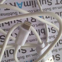 Usb кабель стандарт 100 см для iPhone, iPod, iPad 8 pin (белый), фото 3