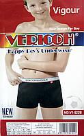 """Трусы боксёры  для мальчиков """"Vericoh"""". Однотонные. Ростовка от 6 до 16 лет."""