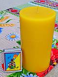 Цилиндрическая восковая свеча D68-130мм из натурального пчелиного воска, фото 3