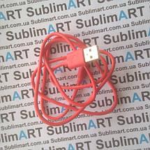 Usb кабель стандарт 100 см для iPhone, iPod, iPad 8 pin (красный), фото 2