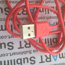 Usb кабель стандарт 100 см для iPhone, iPod, iPad 8 pin (красный), фото 3